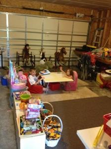 Enjoying the new playroom.
